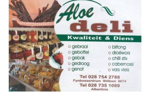 Aloe Slaghuis en Deli, Butchery and Deli in Albertinia and in Stilbaai