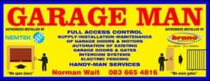 Garage Man Supply, installation & maintenance of garage doors.