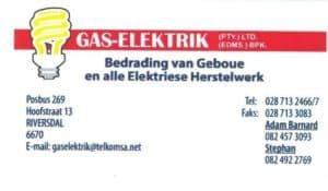 Gas Elektrik Stilbaai - Riversdale