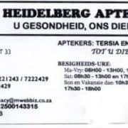 Heidelberg Pharmacy / Apteek