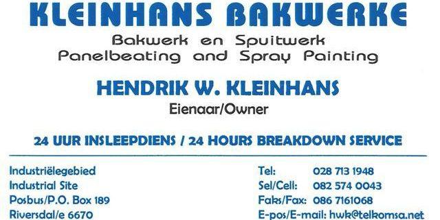 Kleinhans Bakwerke / Panel Beaters