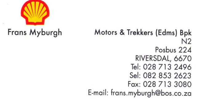 Motors en Trekkers Shell Garage