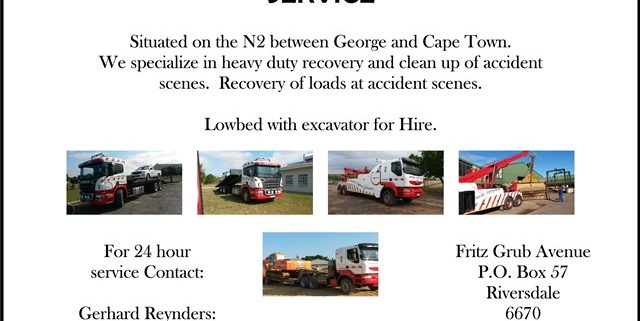 Riversdale Insleepdiens / Towing Service Recovery vehicle