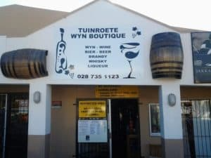 Tuinroete Wyn Boutique / Wine Boutique at Engen Garage Albertinia