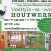 Voëltjie se Werf Houtwerke Skrynwerker / Woodworks Carpenter for all your Kitchen Cupboards, Build in Cupboards , wooden furniture.
