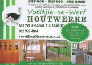 Voëltjie se Werf Houtwerke Skrynwerker / Woodworks Carpenter for all your Kitchen Cupboards, Build in Cupboards , wooden furniture.