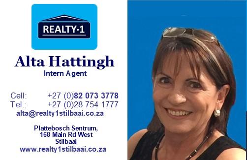 Alta Hattingh Realty 1 Stilbaai Properties