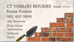 CT Vosloo Builders / Bouers