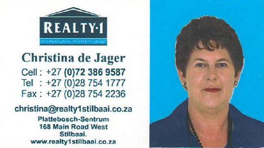 Christina de Jager Realty 1 Stilbaai Properties