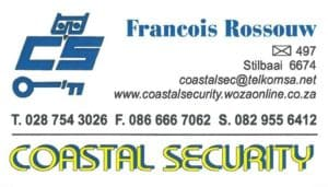 Coastal Security Sekuriteit Stilbaai