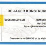 De Jager Konstruksie / Boukontrakteurs