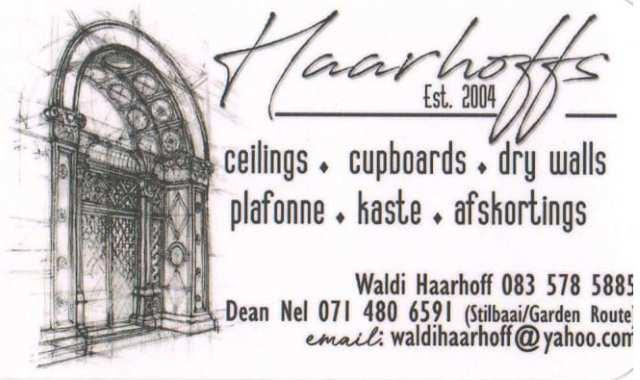 Haarhoffs Ceilings, Cupboards & Drywalls