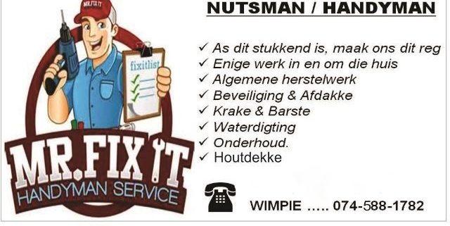 Mr.Fix It Handyman