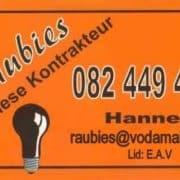 Raubies Elektriese Kontrakteur / Raubies Electrical Contractors