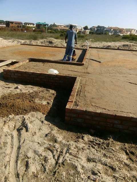 foundation of home in riversdal by Boumag Konstruksie
