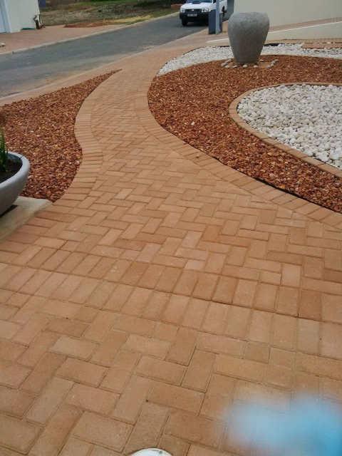 paving of bricks at Boumag Construction