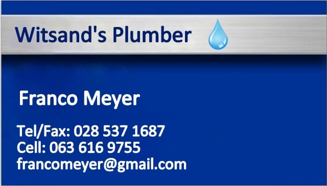 Witsand Plumber / Loodgieter
