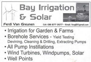Bay Irrigation and Solar Stilbaai, Jongensfontein and Hessequa