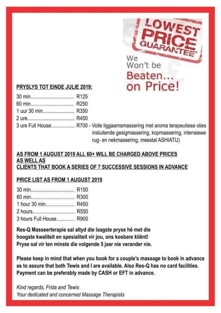 Res Q Massage Therapy pricelist 2019 (1)