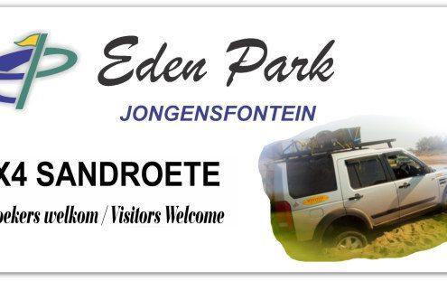 Eden Park Jongensfontein 4x4 sandroete