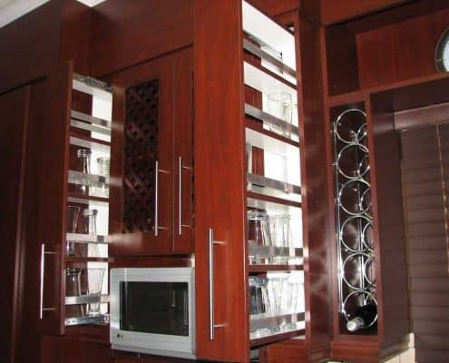 JS Kitchens & Cupboards Kitchen wine and glass cupboard