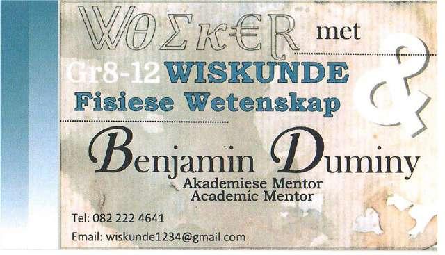 Woeker Akademie Wiskunde & Wetenskap klasse