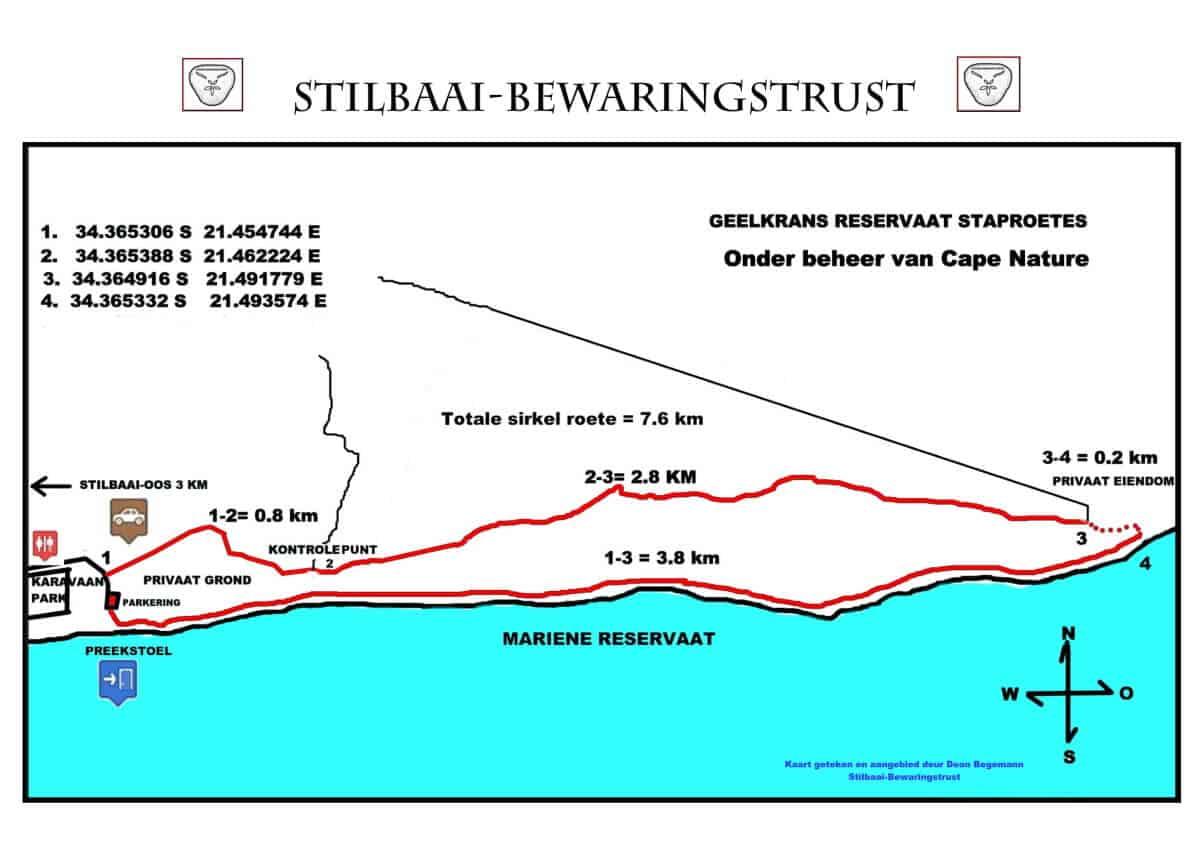Stilbaai Geelkrans Trail - Staproete