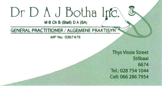 General Practitioner DR AJ Botha Still Bay