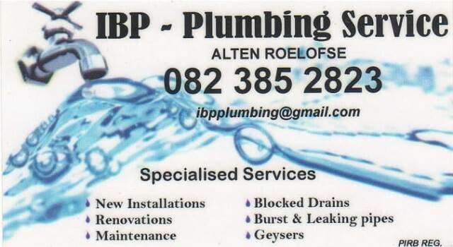 IBP Plumbing Services Stilbaai