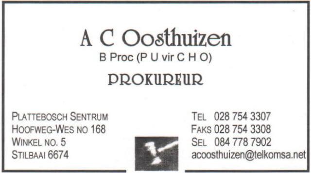 AC Oosthuizen Attorneys -AC Oosthuizen Prokureurs