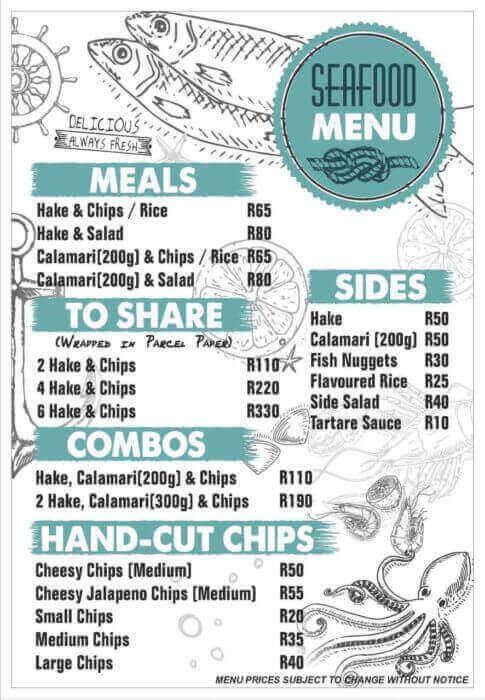 Hillside Kitchen Stilbaai menu 2019
