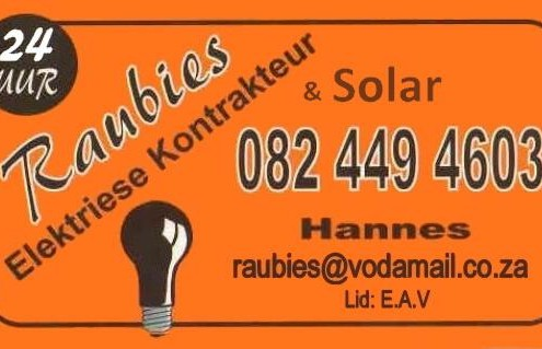 Raubies Solar Power Systems Garden Route