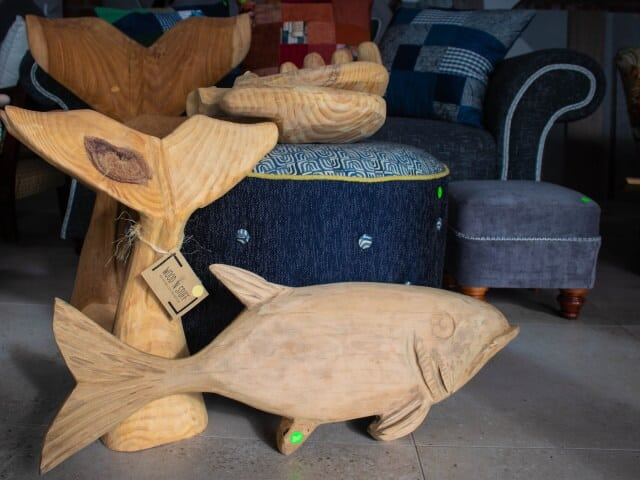 Beach House Upholstery Wooden Fish