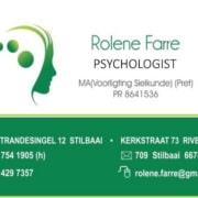 Rolene Farre - Psygologist in Still Bay