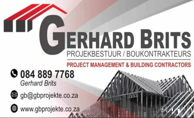 Gerhard Brits Projekte - Building Contractor